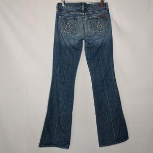 7FAM A Pocket Flare Jeans Medium Wash Denim